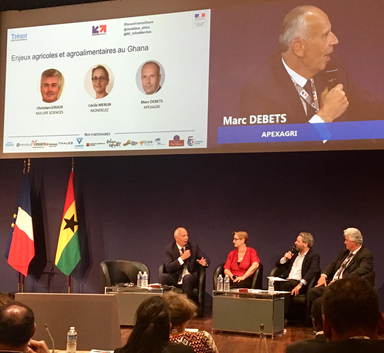 Marc Debets, Apexagri's CEO at the France Ghana Economic Forum